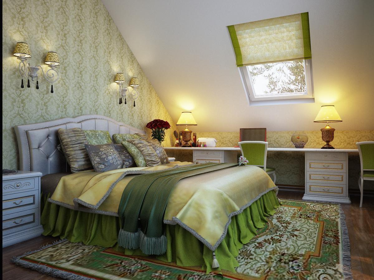 Дизайн комнат со скошенной крышей